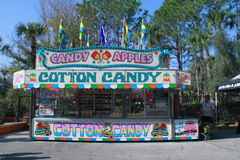 Florida State Fair. February 2011, Florida State Fair. Candy Apples and Cotton Candy consession stand Royalty Free Stock Image