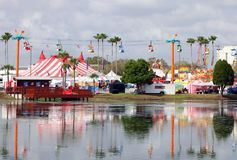 Florida State Fairgrounds. The Florida State Fairgrounds is an annual fair, located in Tampa. It includes,rides,attraction, music and a lot of food Stock Image