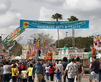Florida State Fairgrounds. Attracts many visitors. It is an annual State fair in Tampa. It includes,rides,attractions, performances , music and a lot of food Royalty Free Stock Photo