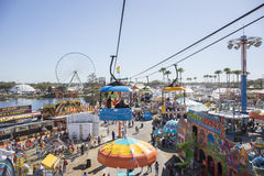 Florida State Fairgrounds. Seen from a chair lift, during the Florida State Fair in Tampa, Florida Royalty Free Stock Image