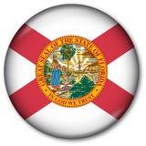 Florida State flag button. Button with Florida State flag Stock Photo