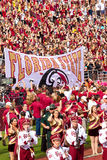Florida State Football. Tallahassee, FL - Oct. 27, 2012:  Fans at a Florida State football game waits with anticipation the arrival of the Seminole football team Stock Photography