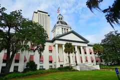Florida State house. The Old and New Florida state building at Tallahassee, Florida, USA Royalty Free Stock Photography