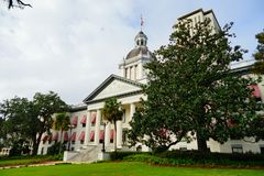 Florida State house. The Old and New Florida state building at Tallahassee, Florida, USA Stock Photos