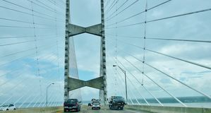 Florida state jacksonville usa dames point bridge. There is one of the landmark of Jacksonville city in Florida state of USA , which called The Dames Point Stock Photos