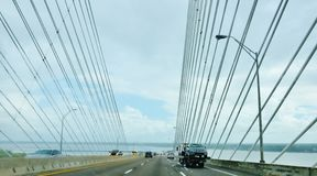 Florida state jacksonville usa dames point bridge. There is one of the landmark of Jacksonville city in Florida state of USA , which called The Dames Point Stock Photo