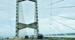 Florida state jacksonville usa dames point bridge. There is one of the landmark of Jacksonville city in Florida state of USA , which called The Dames Point Royalty Free Stock Photo