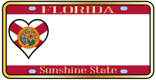 Florida State License Plateai stock illustration