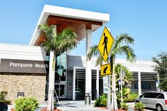 Florida state pompano beach visitor center Royalty Free Stock Image