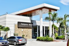 Florida state pompano beach visitor center. There is modern and exotic Visitor Center of Florida State in Pompano Beach , USA. Comfortable for travelers with Royalty Free Stock Photography