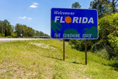 Florida state sign Royalty Free Stock Photo