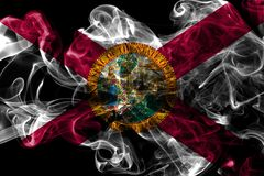 Florida state smoke flag, United States Of America.  stock photo