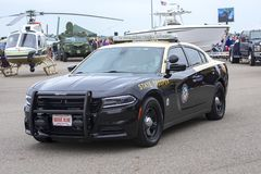 Florida State Trooper Car at McDill Air Force Base. Florida State Trooper car on display at McDill Air Force Base in Tampa, Florida stock images