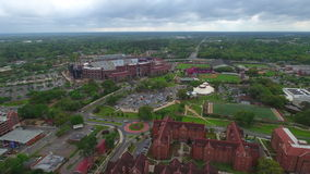 Florida State University Doak Campbell Stadium aerial video stock video footage