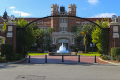 Florida State University Entrance. This is the entrance to Florida State University Campus.Located in Tallahassee, Florida and home to the Florida State Stock Images
