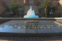 Florida State University Entrance. This is the entrance to Florida State University Campus.Located in Tallahassee, Florida and home to the Florida State Royalty Free Stock Photos