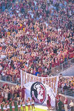 Florida State University Football. Tallahassee, FL - Nov. 24, 2012:  Football fans at Doak Campbell Stadium await the arrival of the Seminole football players to Royalty Free Stock Photography
