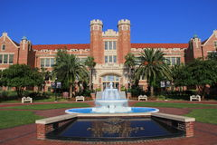 Florida State University Fountain. The fountain at the James Westcott Building on the campus of Florida State University in Tallahassee, Florida Stock Photos