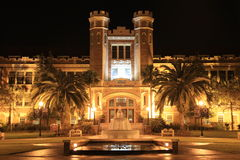 Florida State University. The James Westcott Building on the campus of Florida State University in Tallahassee, Florida at night GO NOLES Royalty Free Stock Photos