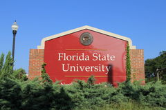 Florida State University. A sign on the campus of Florida State University in Tallahassee, Florida Royalty Free Stock Photo