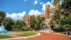 Florida State University at Tallahassee. Main fountain at FSU campus Stock Photo