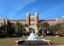 Florida State University. Westcott Building and fountain on the Florida State university Campus in Tallahassee, Florida Stock Photo