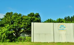 Florida state usa sound wall roadside. There are different design of soundwall in different states of USA. It`s example from  Florida  state , which with Stock Images