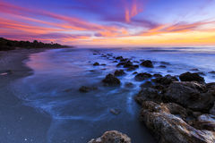 Florida-Strand-Sonnenuntergang Lizenzfreies Stockbild