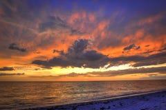 Florida-Strand am Sonnenuntergang Stockfoto