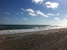 Florida-Strand und Gebäude Stockbild