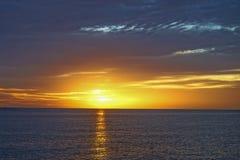 Florida-Strandsonnensatz Lizenzfreies Stockfoto