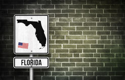 Florida street sign Royalty Free Stock Photo