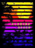 Florida summer tee graphic design Stock Photography
