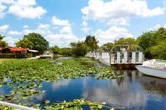Florida-Sumpfgebiet, Airboatfahrt am Everglades-Nationalpark in USA lizenzfreie stockfotos