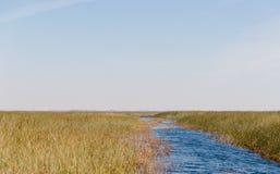 Florida-Sumpfgebiet, Airboatfahrt am Everglades-Nationalpark in USA Populärer Platz für Touristen stockfotografie