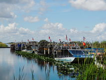 Florida-Sumpfgebiete Airboats Stockfotos