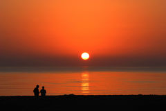 Florida Sunrise. Captured on a beach in Hollywood, Florida Royalty Free Stock Image