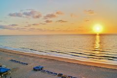 Florida Sunrise in Pompano Royalty Free Stock Photography