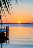 Florida sunset with gentle ripples in water Stock Image