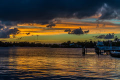 Florida Sunset. Sunset over the neighbourhood in south florida Royalty Free Stock Photo