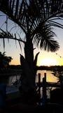Florida sunset on Bonita Springs canal. Southwest Florida sunset on a canal Stock Photo