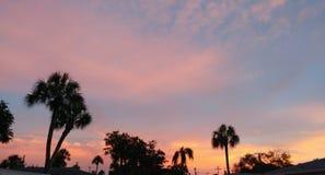 Florida sydvästlig solnedgångsikt Arkivbild