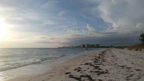 Florida sydvästlig solnedgångsikt, stränder Arkivfoto