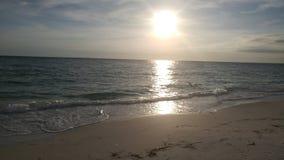 Florida sydvästlig solnedgångsikt, stränder Royaltyfri Fotografi