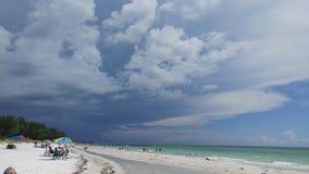 Florida sydvästlig solnedgångsikt, stränder Arkivbild