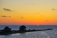 Florida tampa beach sunset Royalty Free Stock Photos