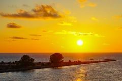 Florida tampa beach sunset Stock Image