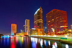 Florida Tampa skyline at sunset in US Royalty Free Stock Images