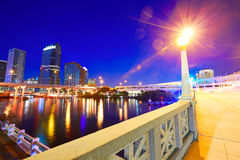 Florida Tampa skyline at sunset in US Stock Photo