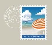 Florida vector illustration of scenic beach Royalty Free Stock Photos